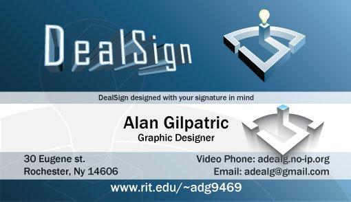 Old dealsign business card print dealsign art by alan gilpatric old dealsign business card reheart Gallery